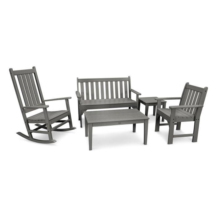 Vineyard 5-Piece Bench & Rocking Chair Set
