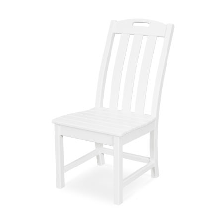 Yacht Club Dining Side Chair in Classic White