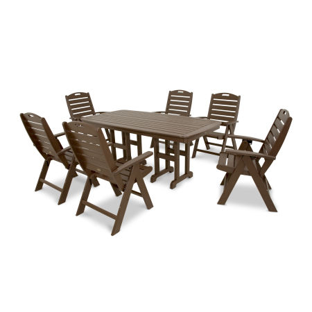 Yacht Club Highback 7-Piece Dining Set in Vintage Lantern
