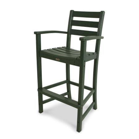 Monterey Bay Bar Arm Chair in Rainforest Canopy