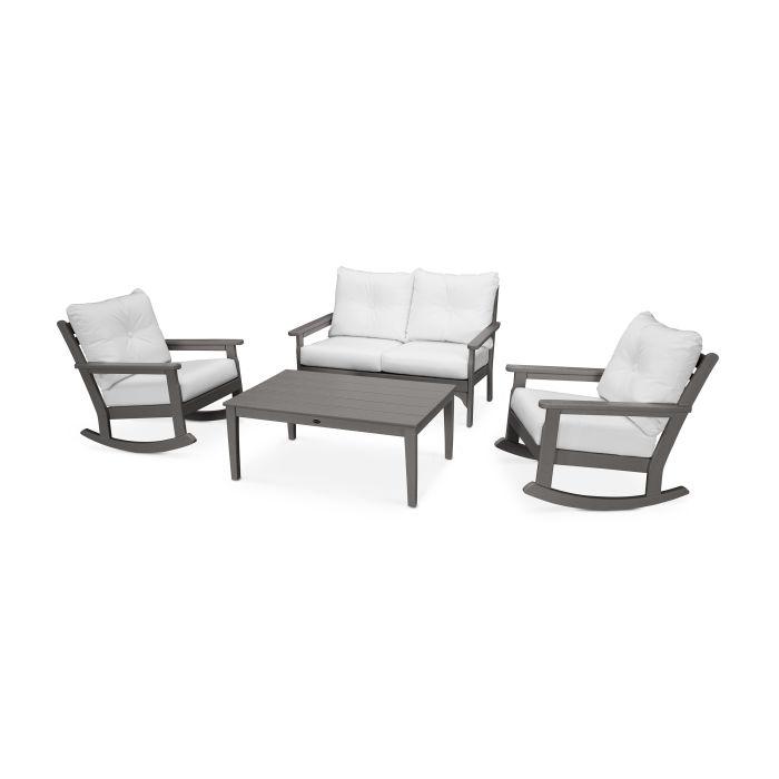 Vineyard 4-Piece Deep Seating Rocking Chair Set