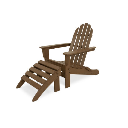 Cape Cod 2-Piece Folding Adirondack Seating Set in Tree House