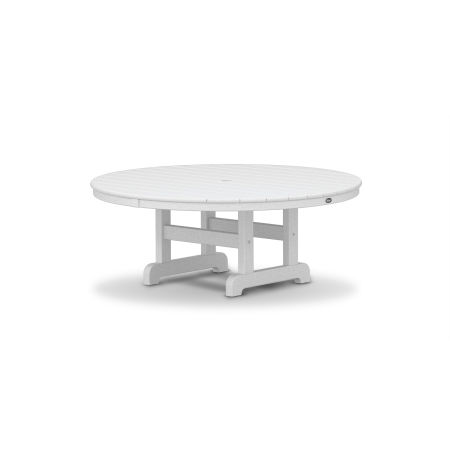 "Cape Cod Round 48"" Conversation Table in Classic White"