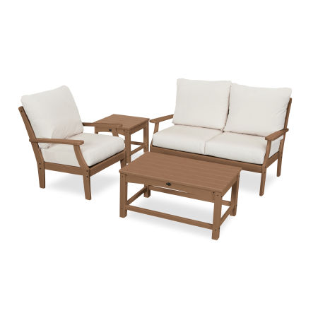 Yacht Club 4-Piece Deep Seating Set in Tree House / Bird's Eye