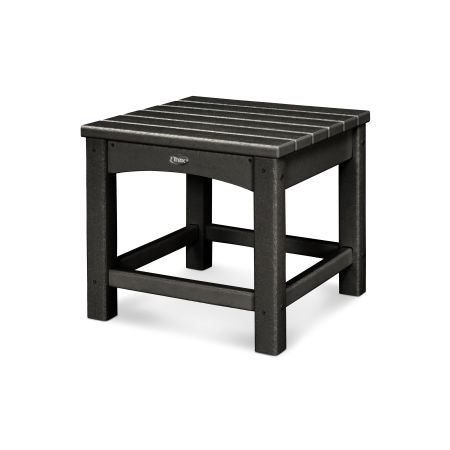 "Rockport Club 18"" Side Table in Charcoal Black"