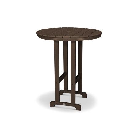 """Monterey Bay Round 36"""" Bar Table in Vintage Lantern"""