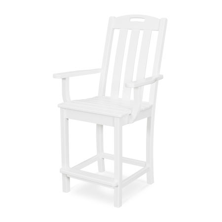 Yacht Club Counter Arm Chair in Classic White