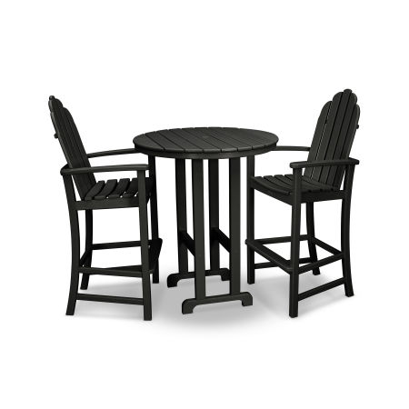 Cape Cod 3-Piece Bar Set in Charcoal Black