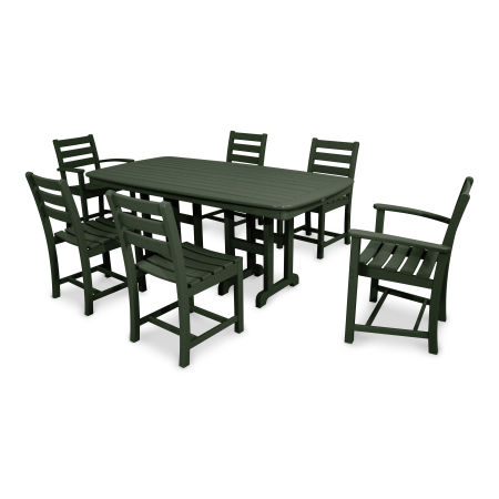Monterey Bay 7-Piece Dining Set in Rainforest Canopy