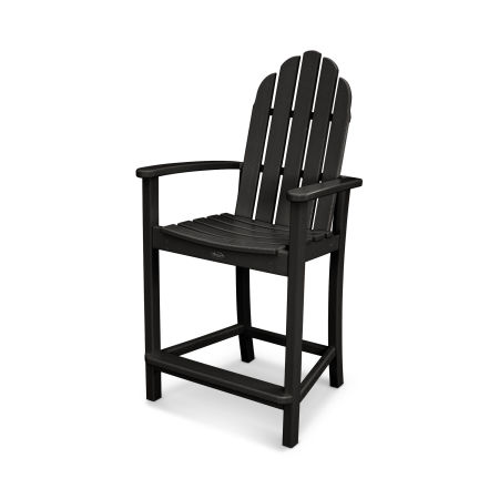 Cape Cod Adirondack Counter Chair in Charcoal Black