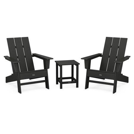 Eastport Modern Adirondack 3-Piece Set in Charcoal Black