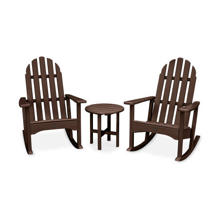 Cape Cod 3-Piece Adirondack Rocker Set in Vintage Lantern