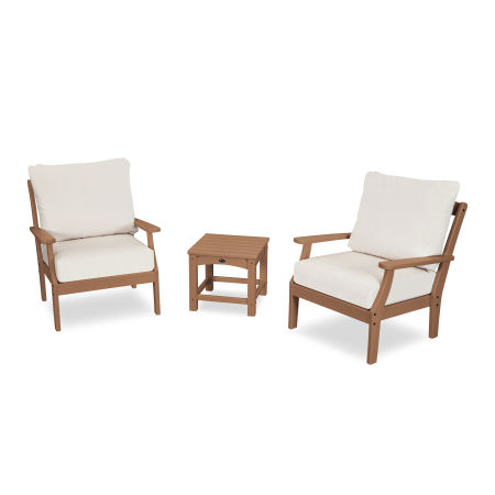 Yacht Club 3-Piece Deep Seating Set in Tree House / Bird's Eye