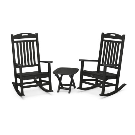 Yacht Club 3-Piece Rocker Set in Charcoal Black