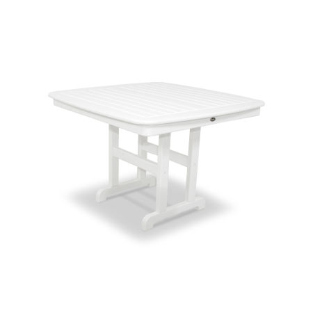 "Yacht Club 44"" Dining Table in Classic White"