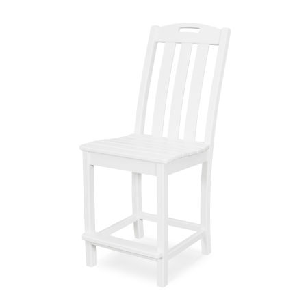 Yacht Club Counter Side Chair in Classic White