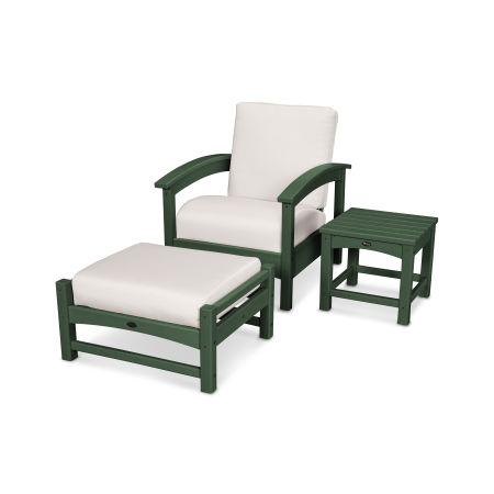 Rockport 3-Piece Deep Seating Set in Rainforest Canopy / Bird's Eye