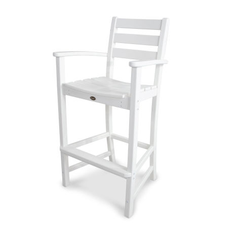 Monterey Bay Bar Arm Chair in Classic White