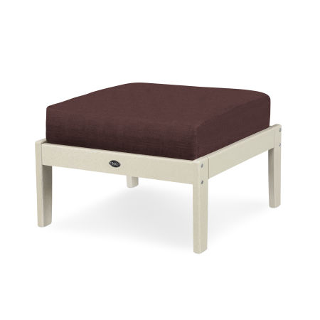 Yacht Club Deep Seating Ottoman in Sand Castle / Cast Currant