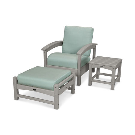 Rockport 3-Piece Deep Seating Set in Stepping Stone / Spa