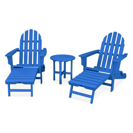 Cape Cod 3-Piece Ultimate Adirondack Set in Pacific Blue