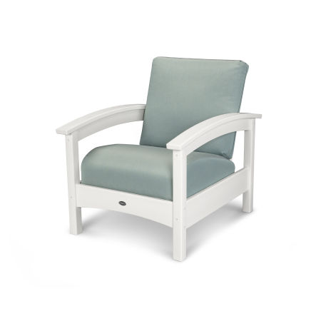 Rockport Club Chair in Classic White / Spa