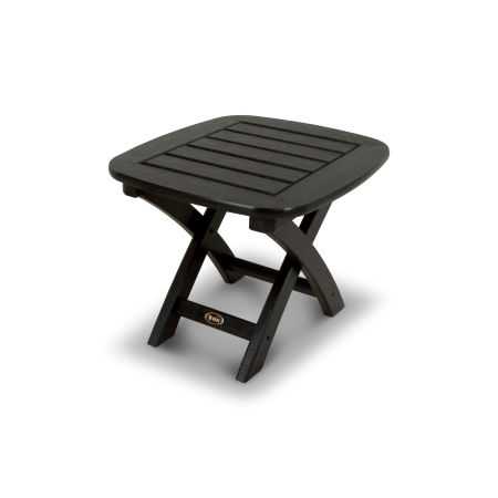 "Yacht Club 21"" x 18"" Side Table in Charcoal Black"