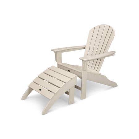 Yacht Club Shellback 2-Piece Adirondack Seating Set in Sand Castle