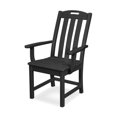 Yacht Club Dining Arm Chair in Charcoal Black