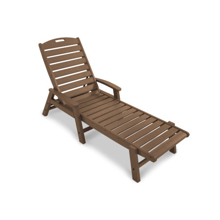 Yacht Club Chaise with Arms - Stackable in Tree House