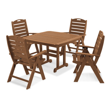Yacht Club Highback 5-Piece Dining Set in Tree House
