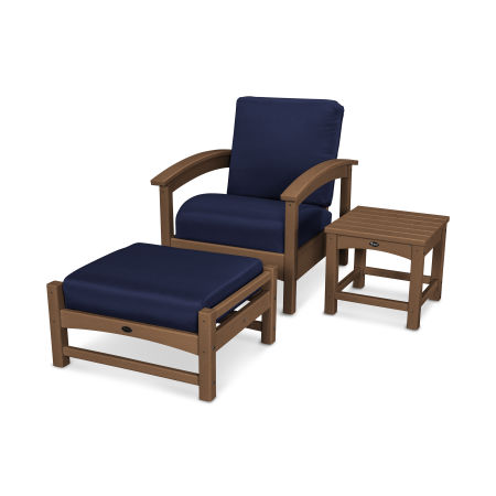 Rockport 3-Piece Deep Seating Set in Tree House / Navy