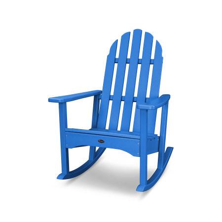 Cape Cod Adirondack Rocking Chair in Pacific Blue