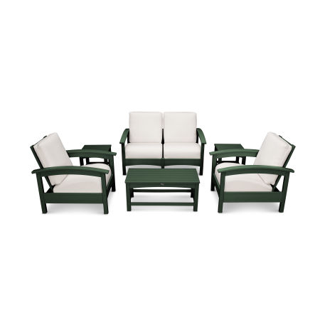 Rockport Club 6 Piece Deep Seating Conversation Set in Rainforest Canopy / Bird's Eye