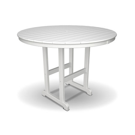 """Monterey Bay Round 48"""" Counter Table in Classic White"""