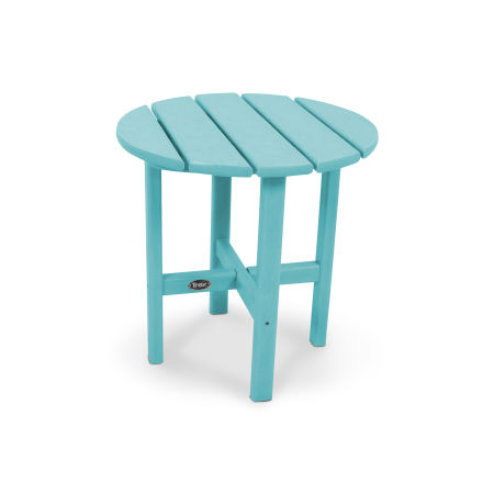 "Cape Cod Round 18"" Side Table in Aruba"