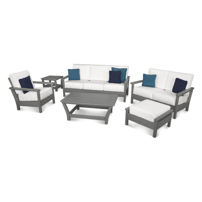 Harbour 6-Piece Outdoor Living Set with Pillows