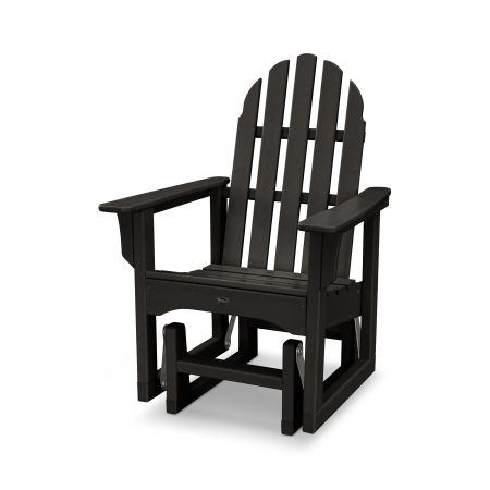 Cape Cod Adirondack Glider Chair in Charcoal Black