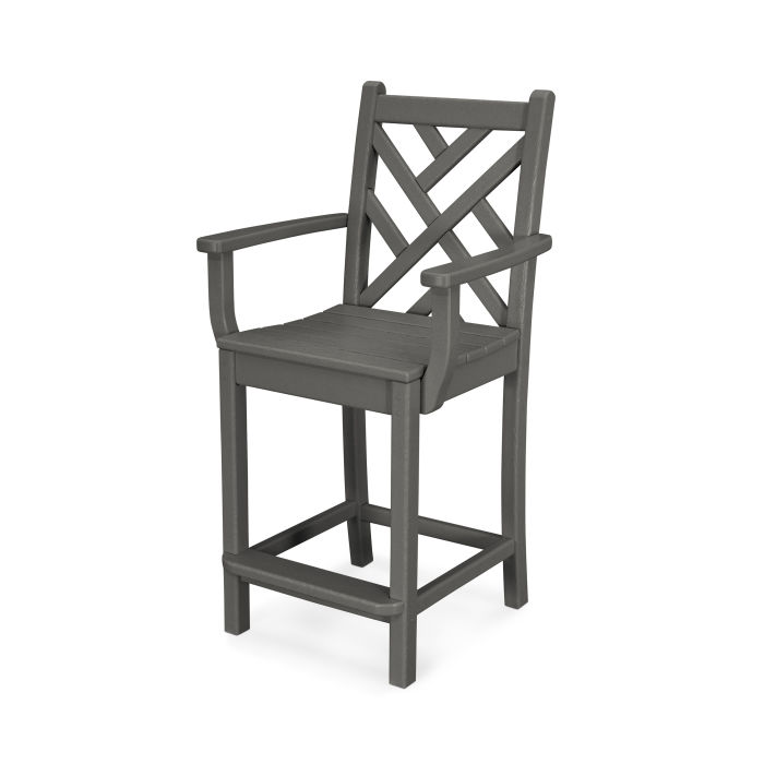 Chippendale Counter Arm Chair