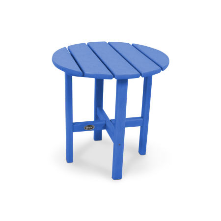 "Cape Cod Round 18"" Side Table in Pacific Blue"