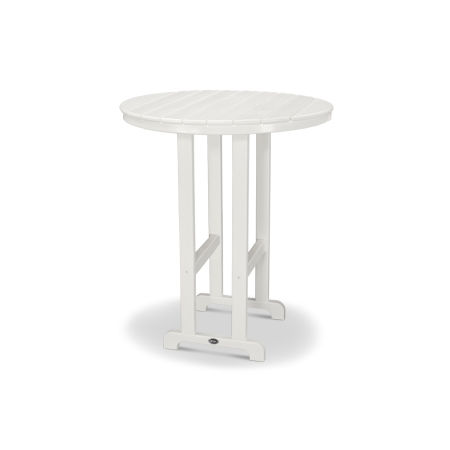 """Monterey Bay Round 36"""" Bar Table in Classic White"""