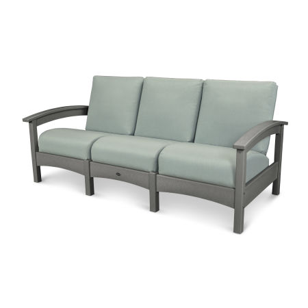 Rockport Club Sofa in Stepping Stone / Spa