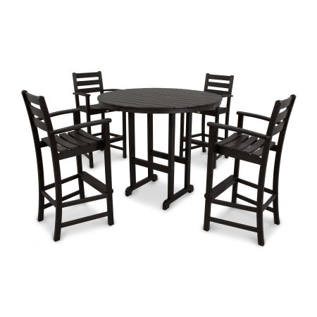 Monterey Bay 5-Piece Bar Set in Charcoal Black