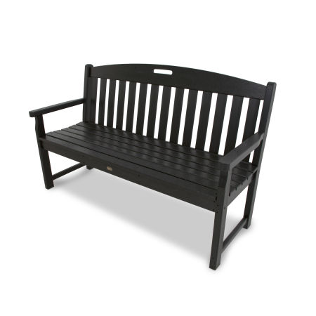 "Yacht Club 60"" Bench in Charcoal Black"
