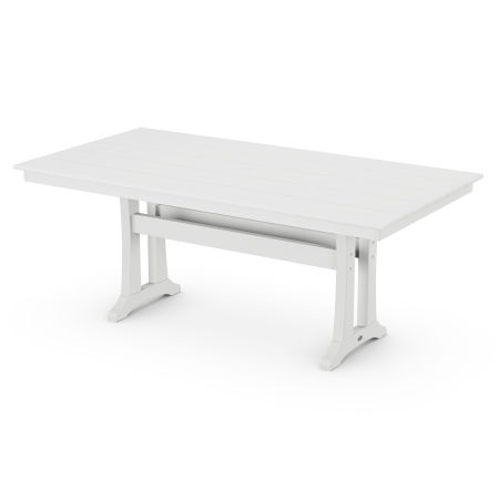 "Farmhouse 37"" x 72"" Dining Table in Classic White"