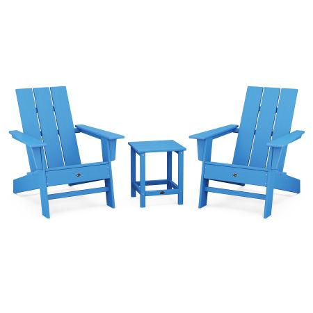 Eastport Modern Adirondack 3-Piece Set in Pacific Blue