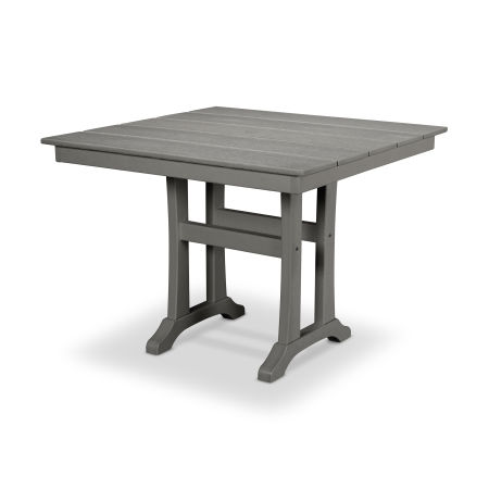 "Farmhouse Trestle 37"" Dining Table in Stepping Stone"