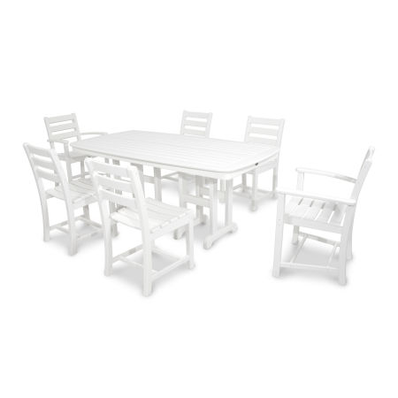 Monterey Bay 7-Piece Dining Set in Classic White