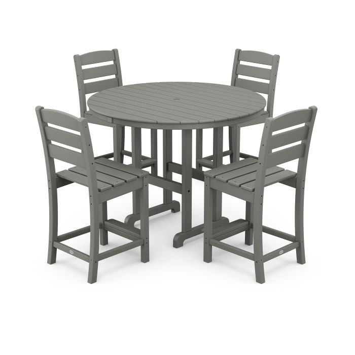 Lakeside 5-Piece Round Counter Side Chair Set