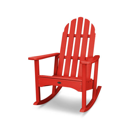 Cape Cod Adirondack Rocking Chair in Sunset Red